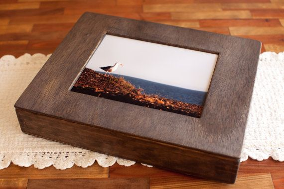 Handmade Wooden Keepsake Box With Picture Frame Lid Made Especially