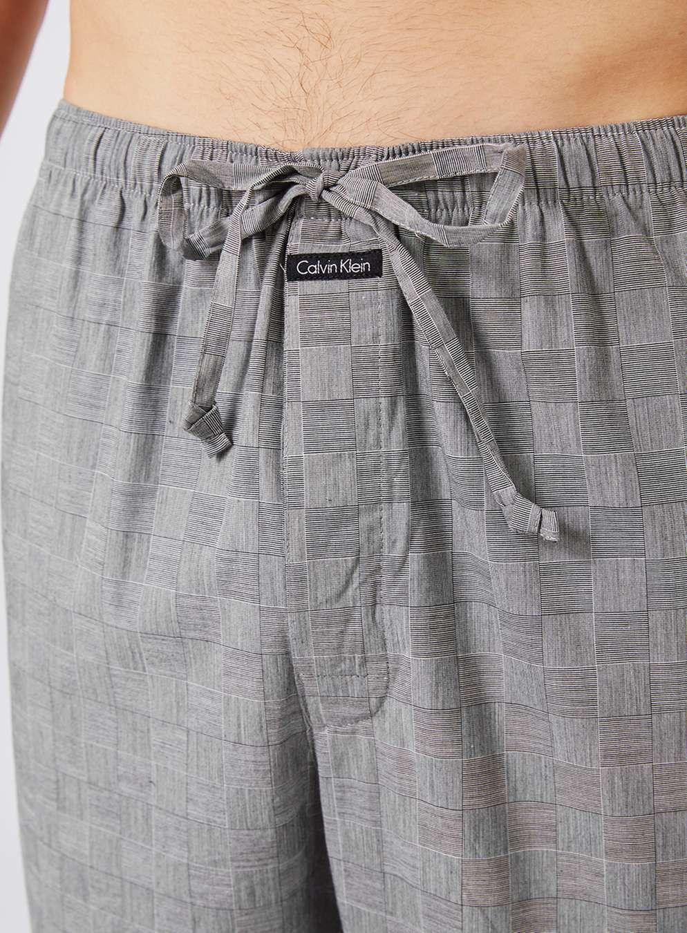 Men's grey flannel trousers  CALVIN KLEIN Grey Check Pyjama Bottoms  Mens  Pinterest