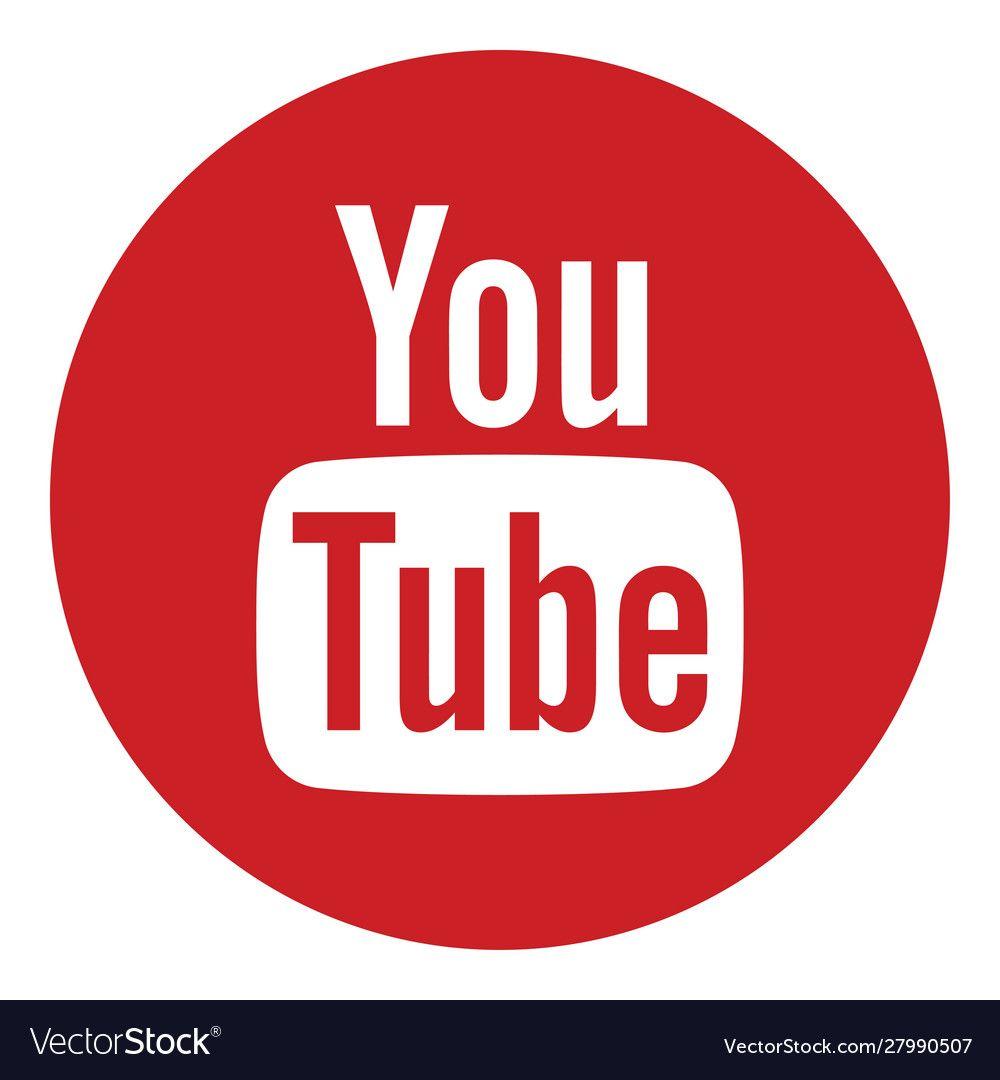 Youtube Logo Icon Vector Image On Vectorstock In 2020 Youtube Logo Logos Logo Icons