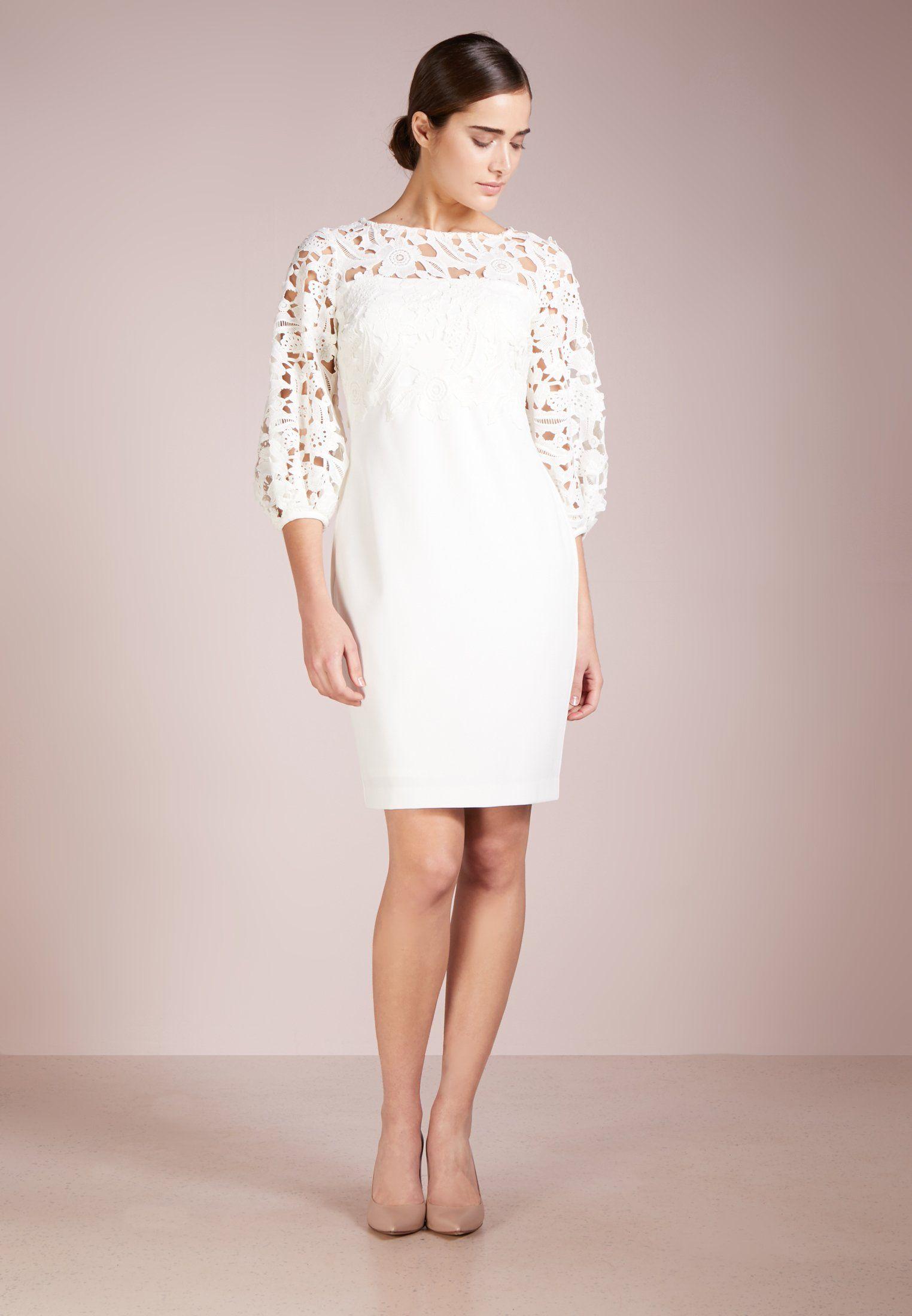 d96b19ba6d Lauren Ralph Lauren LUXE TECH CLAIRE - Sukienka koktajlowa -  cream white wheat - Zalando.pl