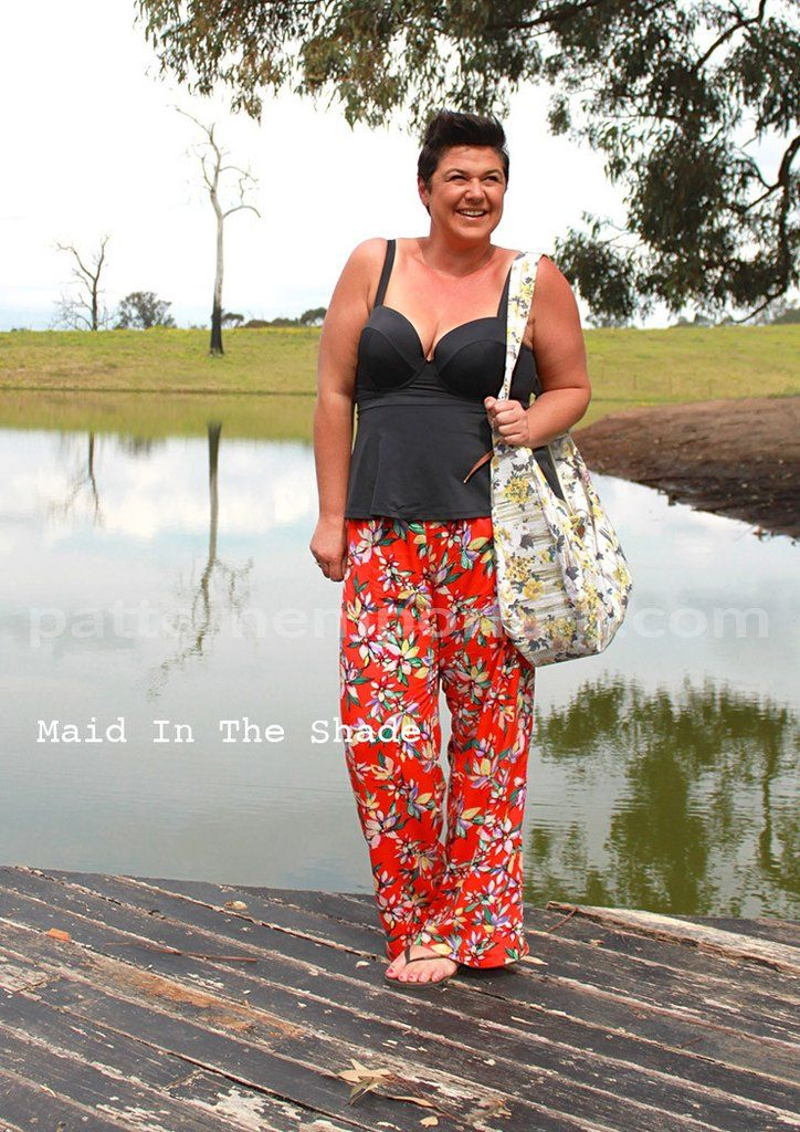 Coco Wide Leg Pants Ladies Pdf Sewing Pattern Wide Leg Pants