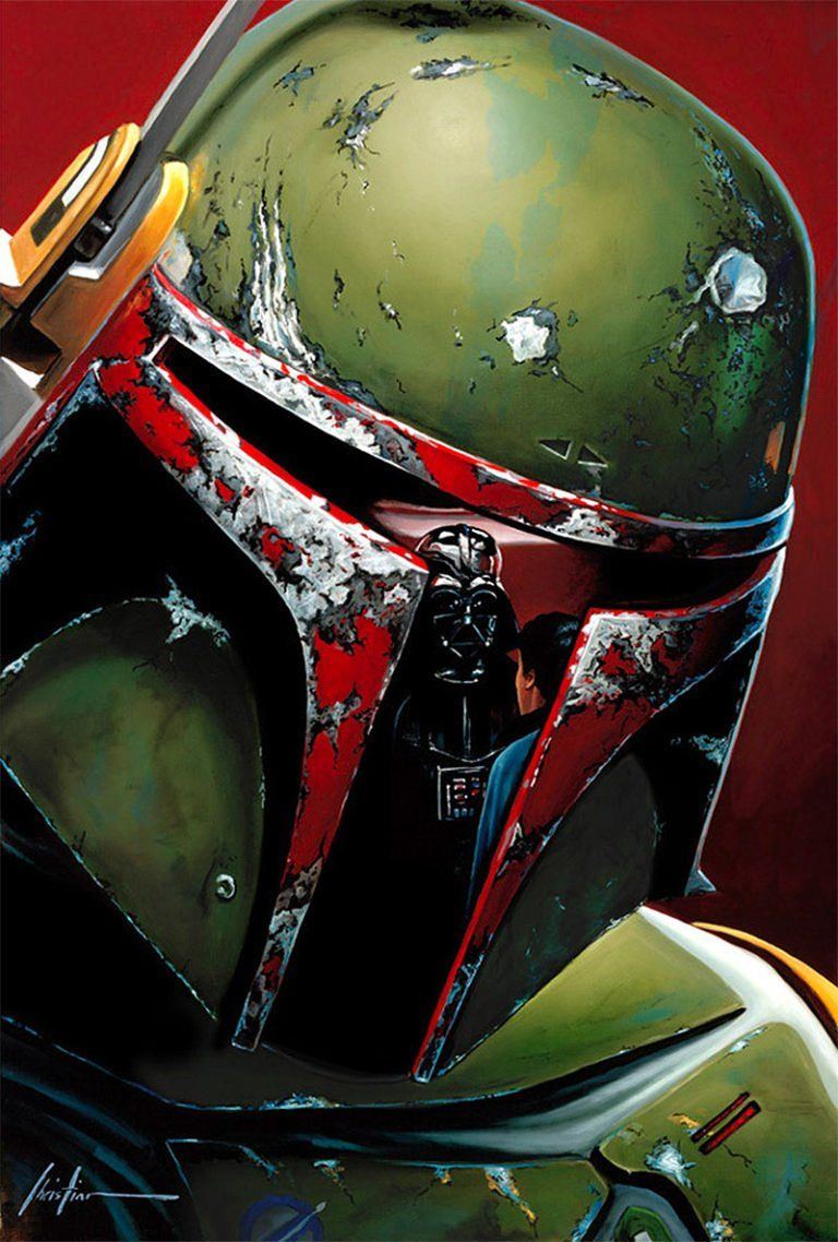 Reflections New Star Wars Artworks By Christian Waggoner Daily Design Inspiration For Creatives I Star Wars Boba Fett Art Star Wars Artwork Leia Star Wars