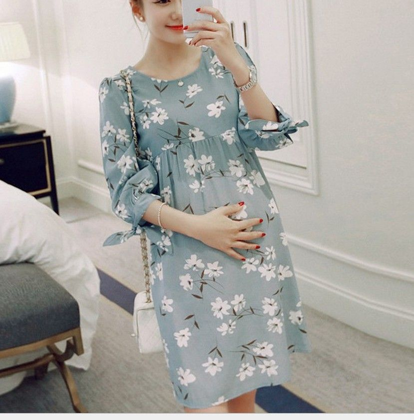 9168337a41b6 Maternity Dress For Pregnant Women Clothing 2016 Summer Fashion Cotton Skirt  Pregnancy Clothes