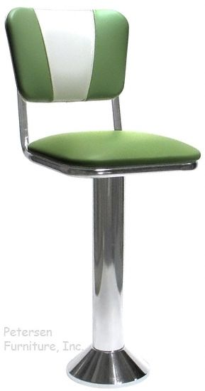 Soda Fountain Counter Stool Bolt Down With V Backrest Counter