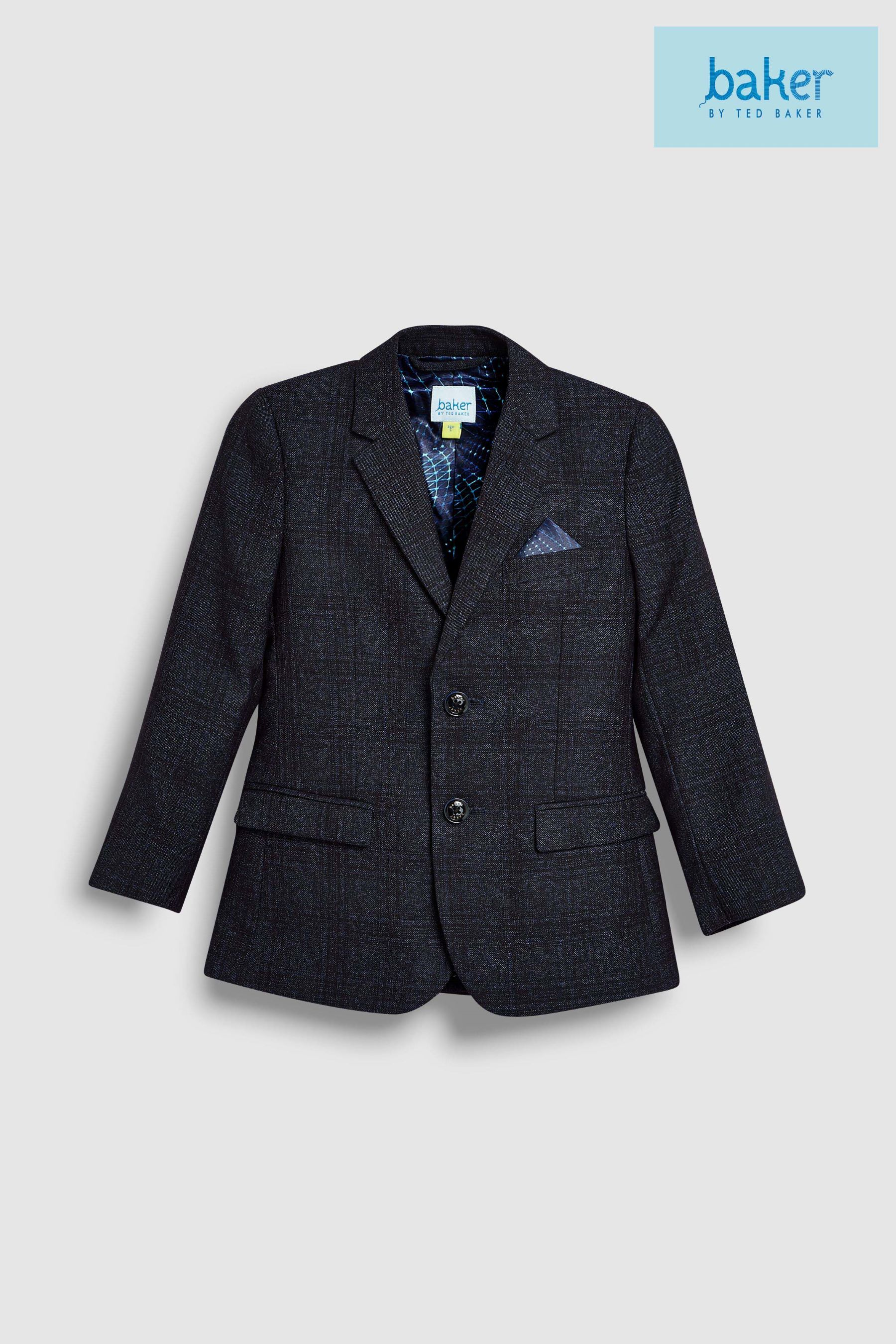 7cc085d0f3c29 Boys baker by Ted Baker Navy Teflon Formal Jacket - Blue