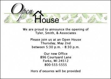 new office invitation card
