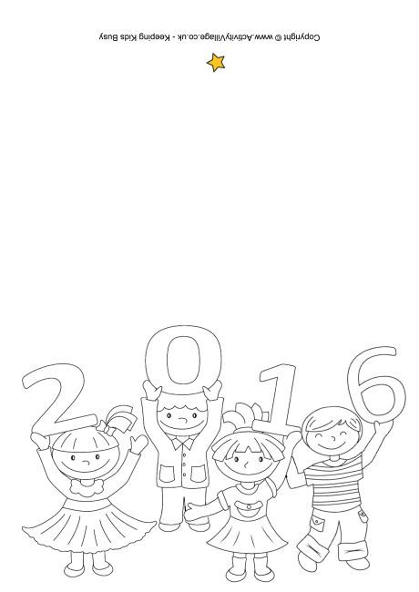 2016 kids colouring card