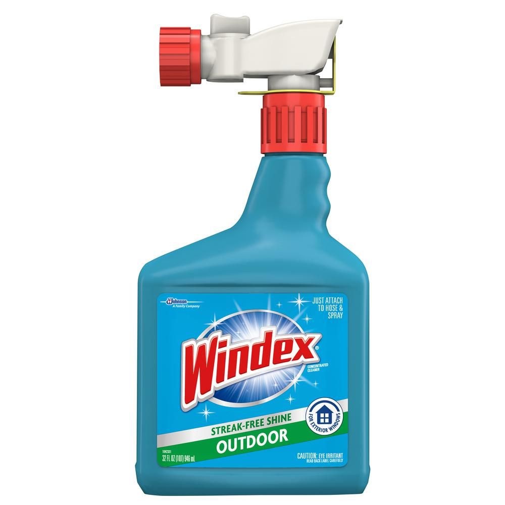 Windex 32 Fl Oz Blue Bottle Outdoor Sprayer 305759 The Home Depot Windex Window Cleaner Spray