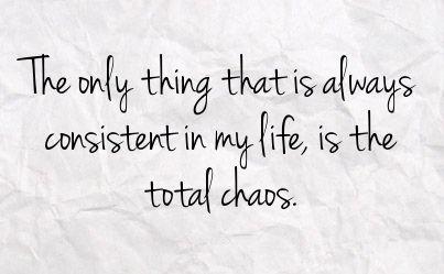 truth, just plain chaos!