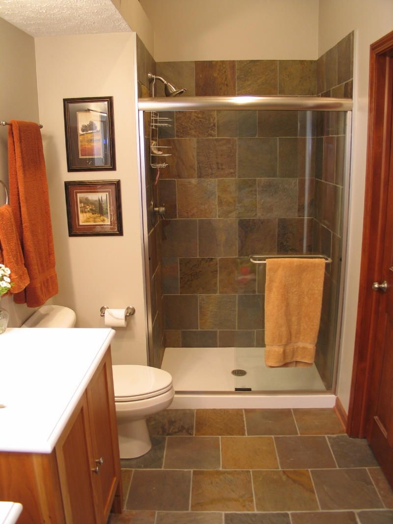 Bathroom ideas for stand up shower remodeling with tile for Small and long bathroom designs