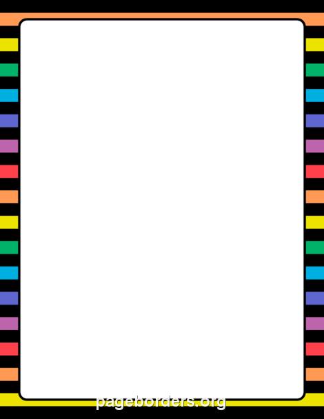 Rainbow And Black Striped Border Clip Art Page Border And Vector Graphics Page Borders Borders For Paper Clip Art