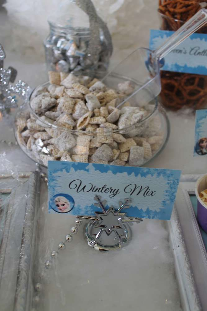 Frozen Disney Birthday Party Ideas Snack mixes Snacks and Birthdays