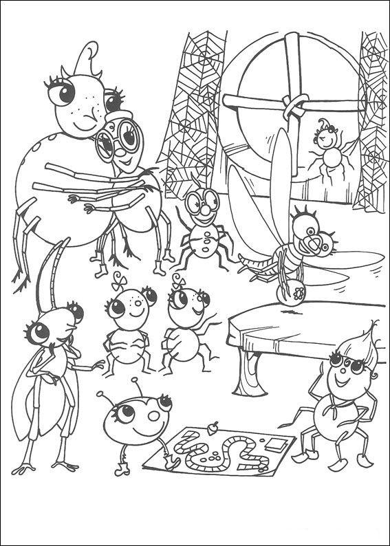 Miss Spider Ausmalbilder 22 | Ausmalbilder für kinder | Pinterest ...