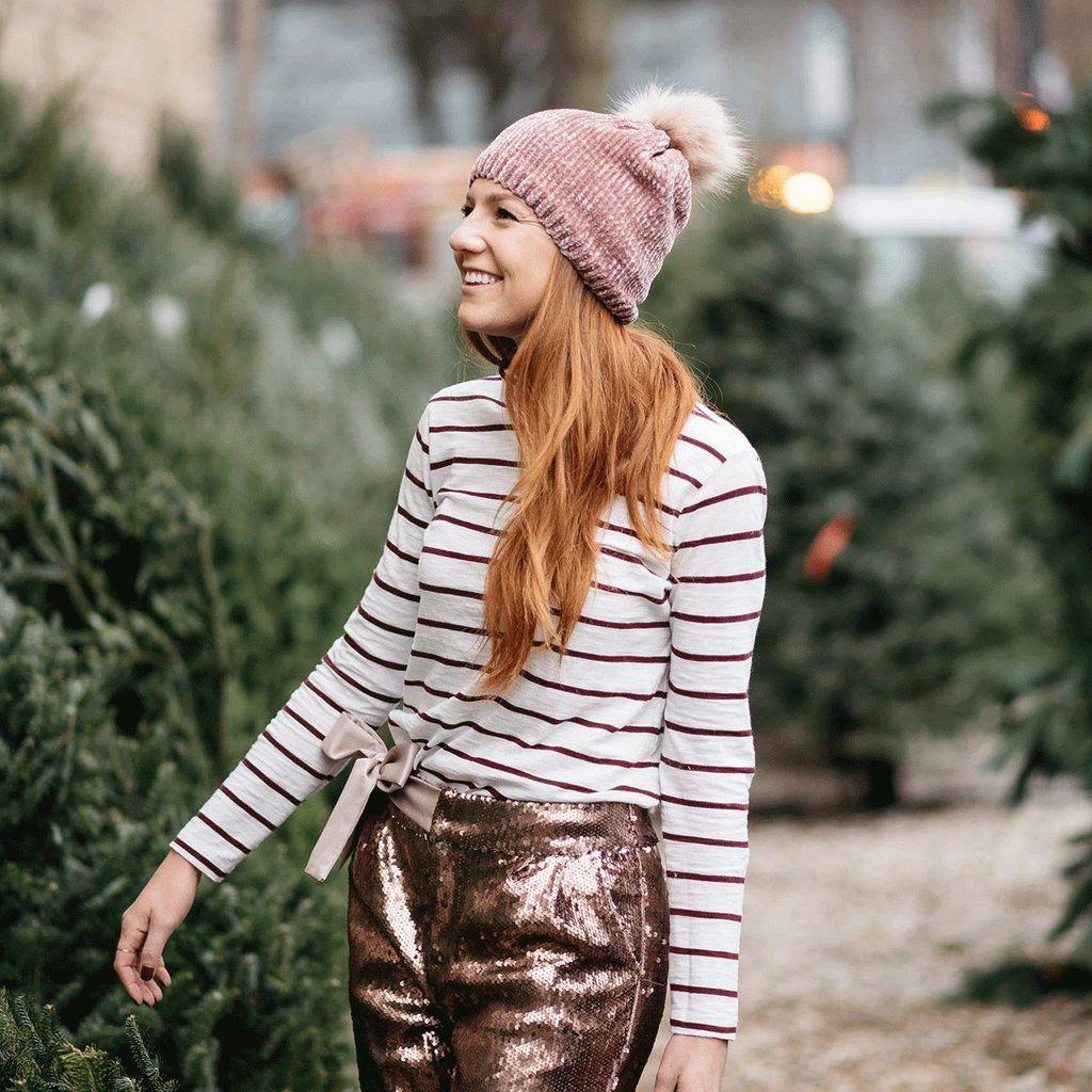 61bcad4c9 Carly Chenille Pom Pom Beanie - Rose | Winter Wears | Winter hats ...
