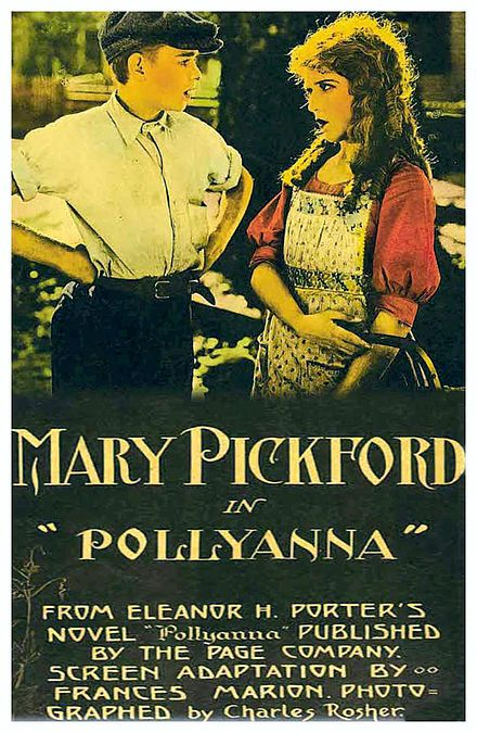 Pollyanna was another hit for Mary Pickford. Released in 1920, it was her first film for United Artists and did very well (about $13M in current dollars). It was directed by Paul Powell and scripted by Frances Marion.