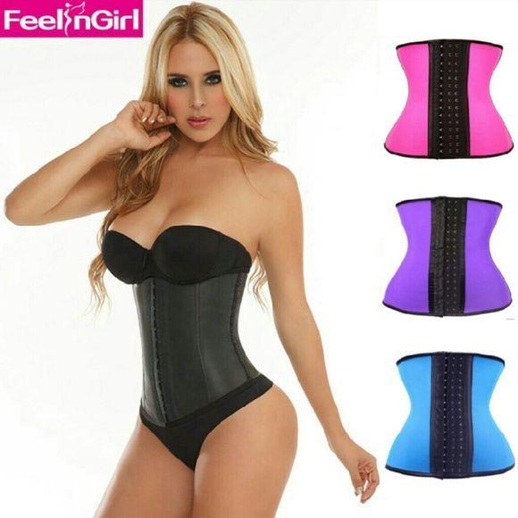 51bf82ce0 Waist tummy trainer Steel boned woman natural rubber waist tummy trainer  girdle belt waist training cincher under bust healthy latex sex sport  corset body ...