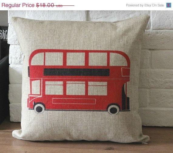 ON SALE 18X18  Linen Pillow cover Vintage retro di bestlove2u, $17.10