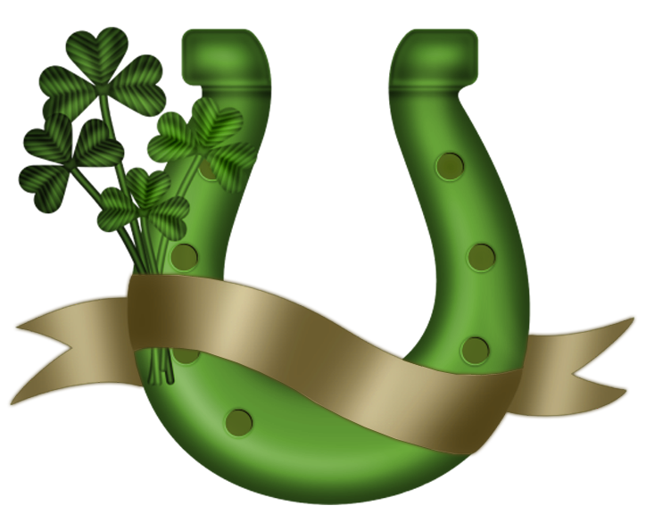 St Patrick Green Horseshoe Png Clipart Horseshoe Clip Art Horseshoe Crafts