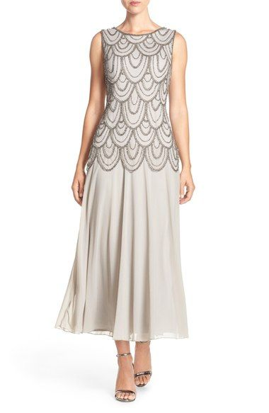 Pisarro Nights Beaded Mesh Gown (Regular & Petite) available at #Nordstrom