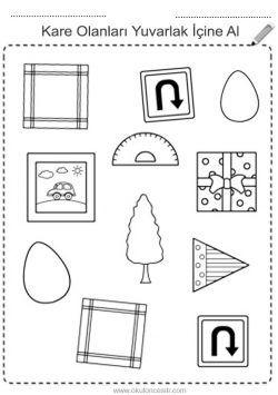 Kare Kavrami Calisma Sayfasi Free Square Worksheets Download