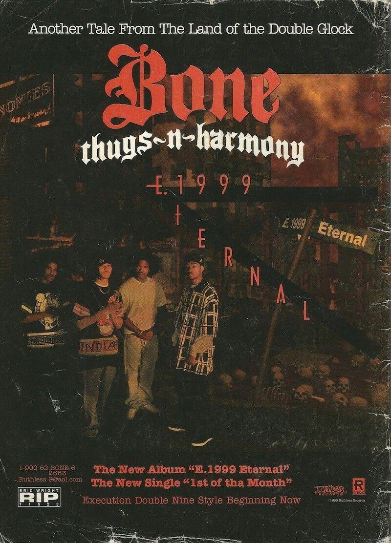 Bone Thugs N Harmony E 1999 Love N Hip Hop Hip Hop Poster Hip