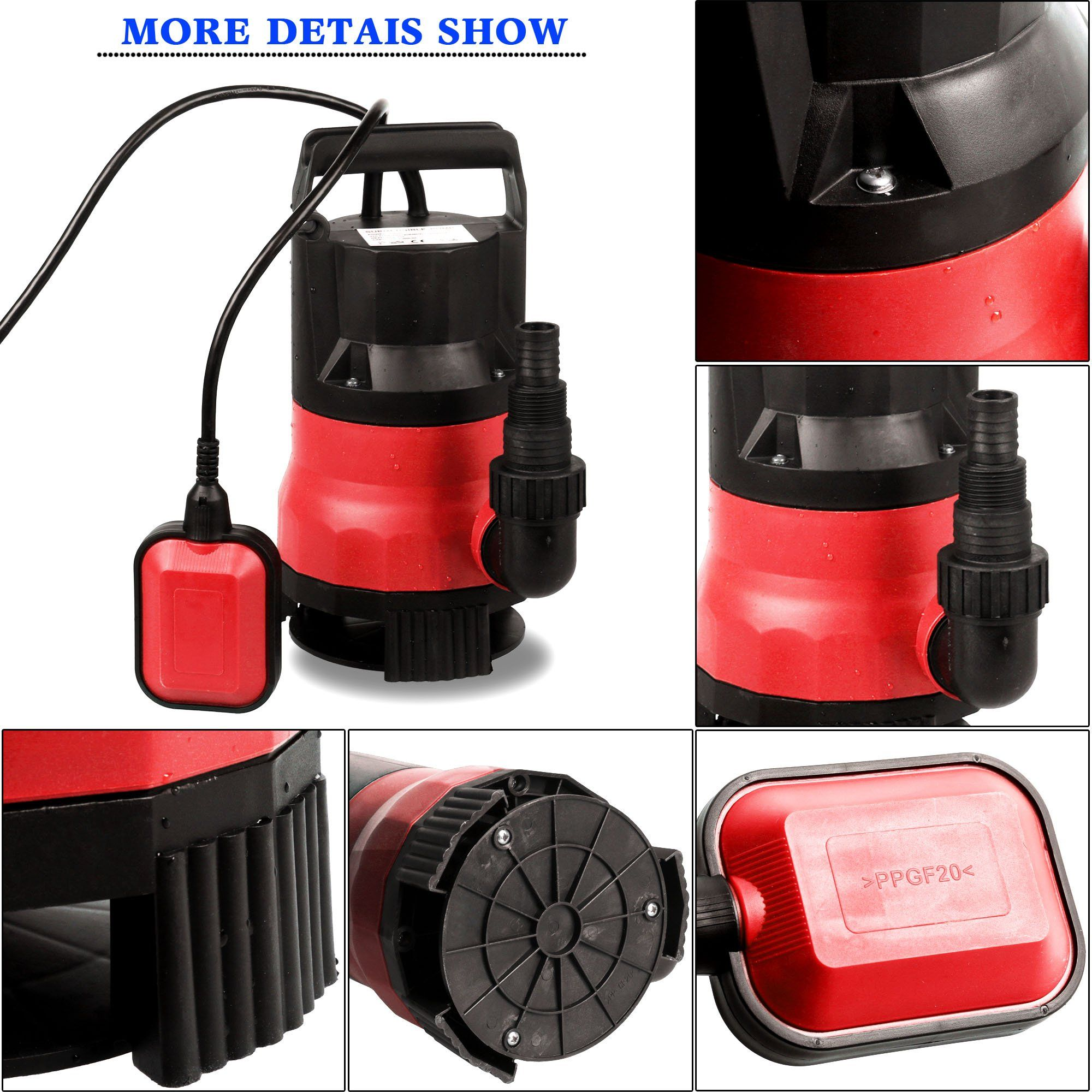 Oanon 12hp submersible sump pump with float switch dirty