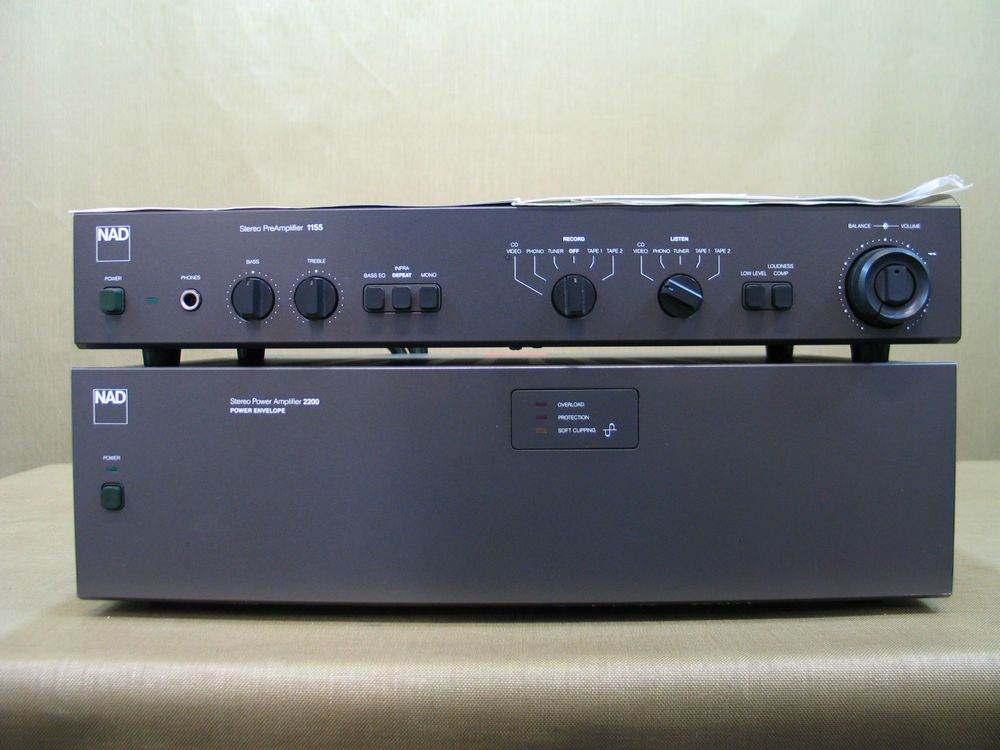 NAD 2200 PE Stereo Power Amplifier + NAD 1155 Stereo