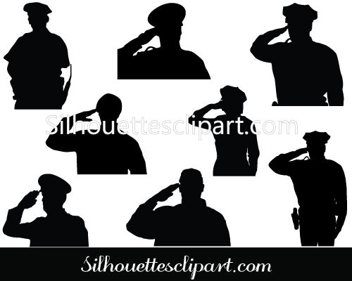 Police Silhouette Vector Graphics Download General