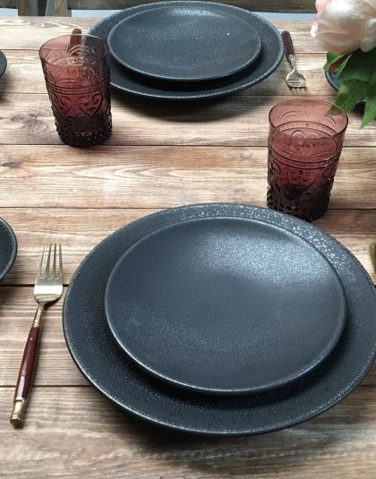 Black Crockery Tableware Classic Crockery Event Hire Classic Dinnerware Crockery Dinnerware