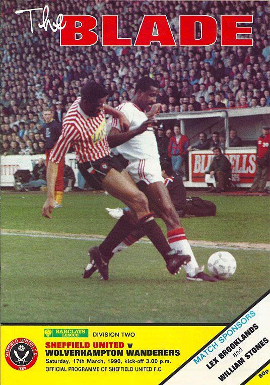 Sheffield Utd 3 Wolves 0 In March 1990 At Bramall Lane