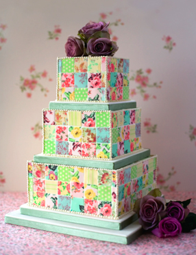 Quilted cake.