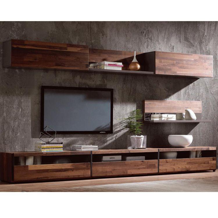 Source Modern Simple TV Stand Walnut Wood Veneer Cabinet On Malibaba