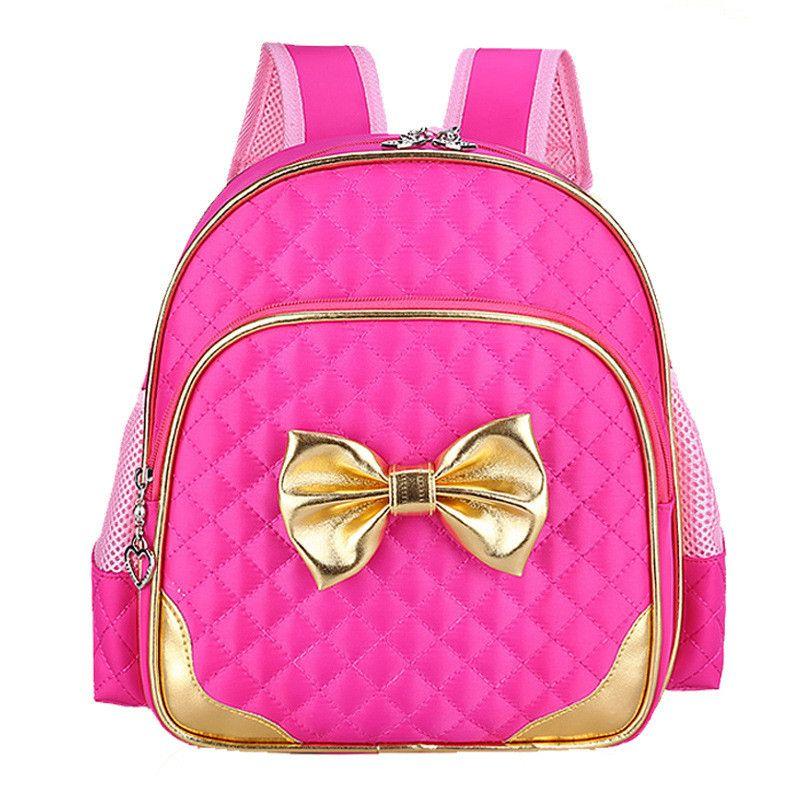 2017 Princess Girls School bags Cute Big Bow Kindergarten Girls ...