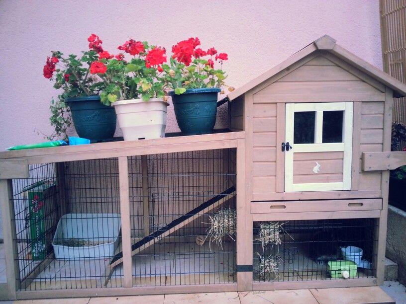 clapier abri pour animaux lapin clapier le coin des animaux pinterest animaux. Black Bedroom Furniture Sets. Home Design Ideas