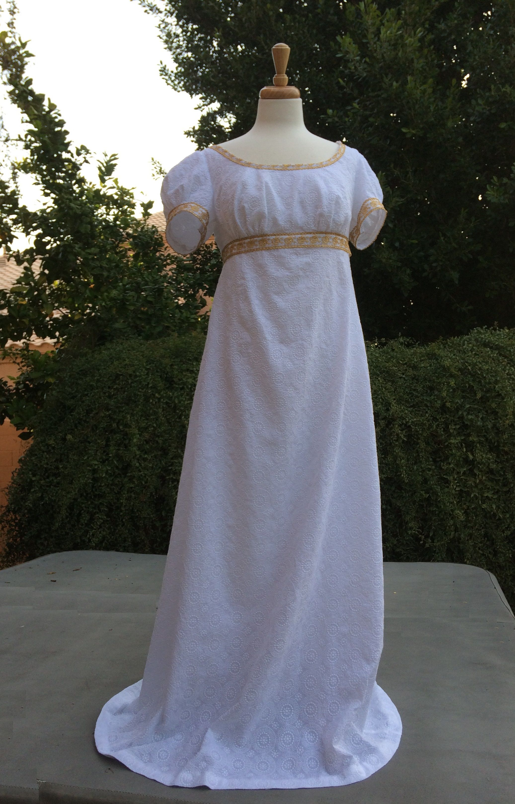 Jane austen day dress front my shop seams appropriate