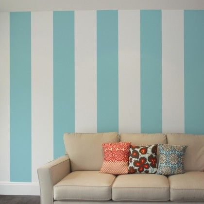 Nautical strip removable wallpaper