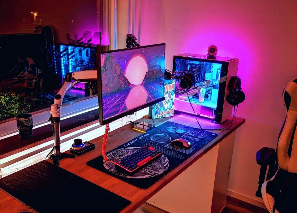 my setup has never been so clean battlestations dream setup rh pinterest com