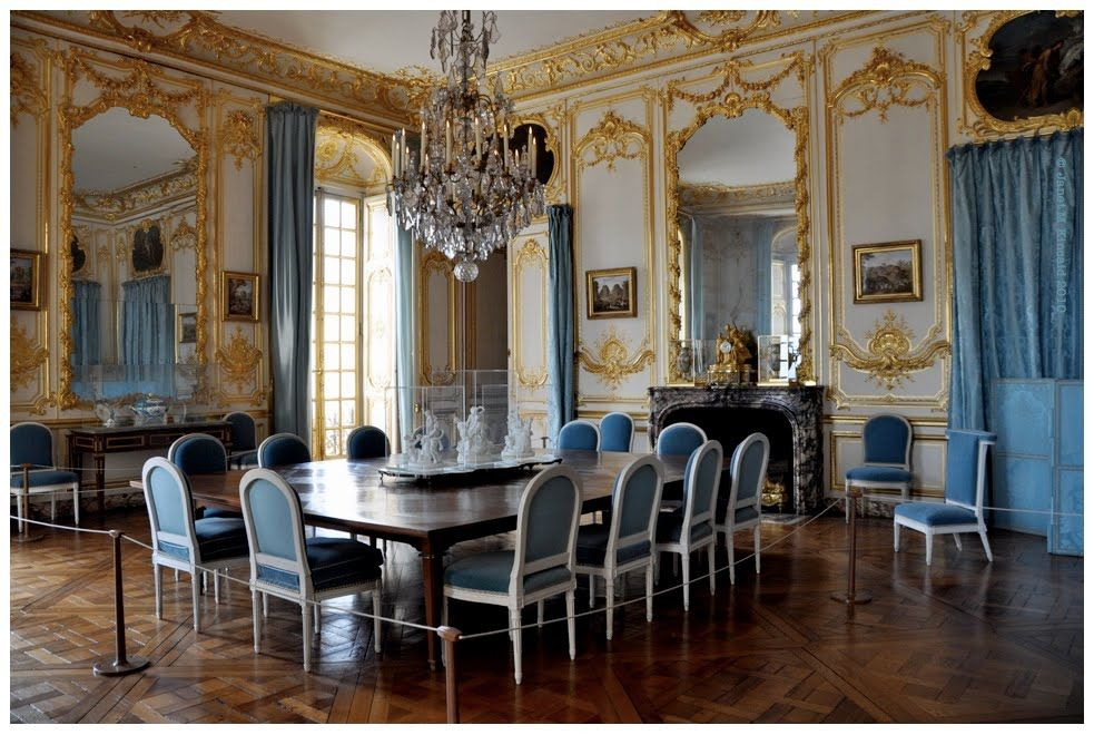 Charming Blue Rooms | Louis The XIVs Blue Dining Room : Versailles, FR