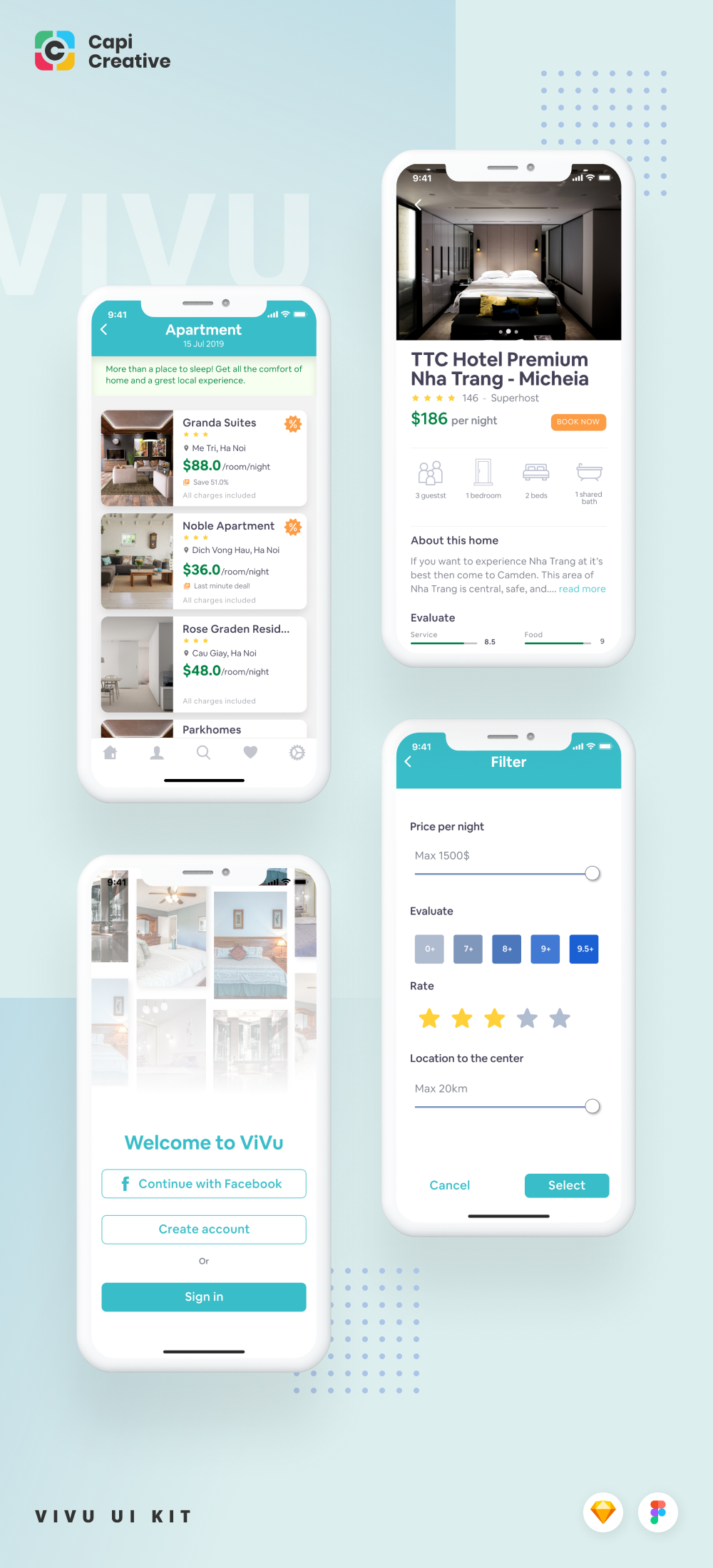 ViVu is an aesthetic Hotel booking app specially designed