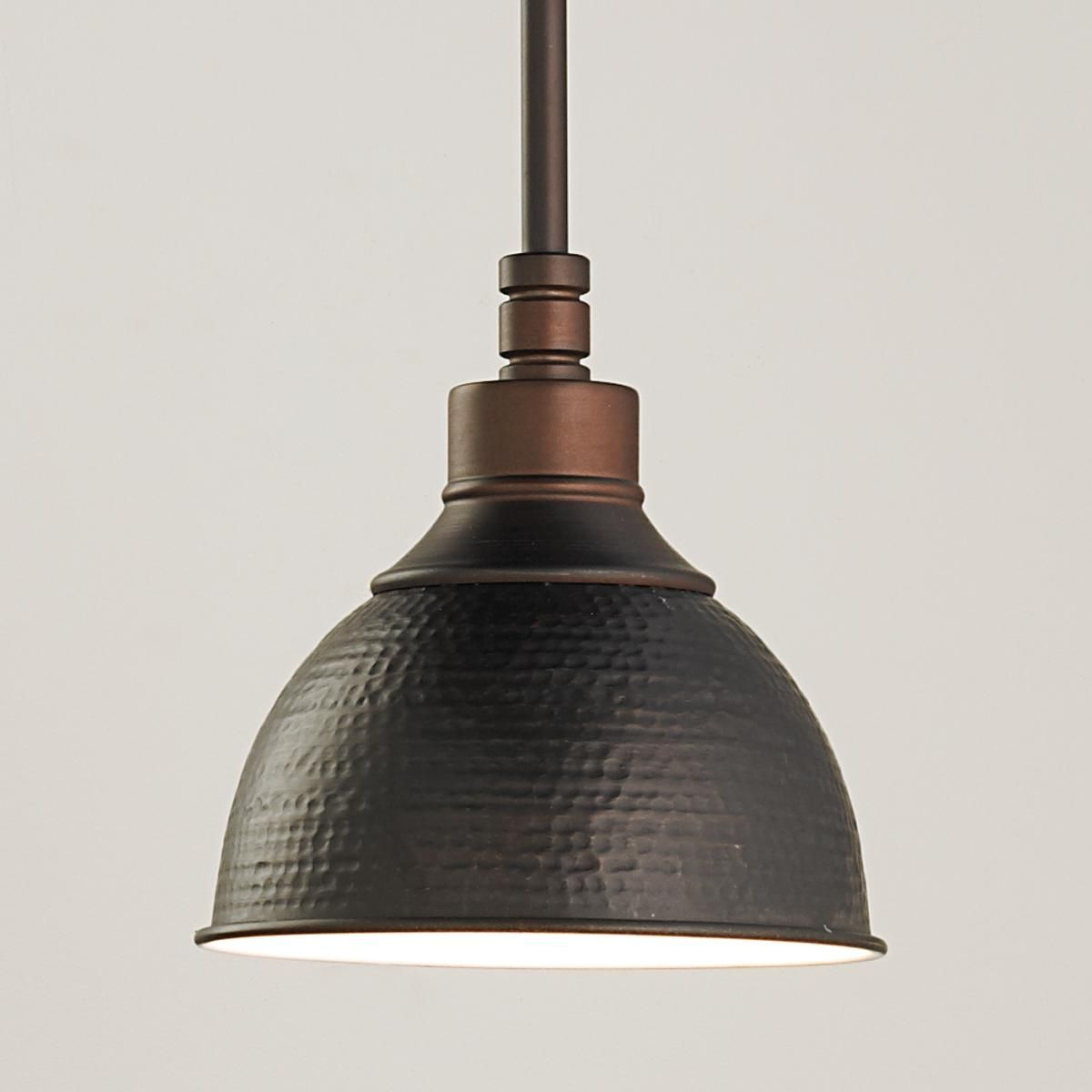 Hammered Metal Pendant Light - Small | Küche