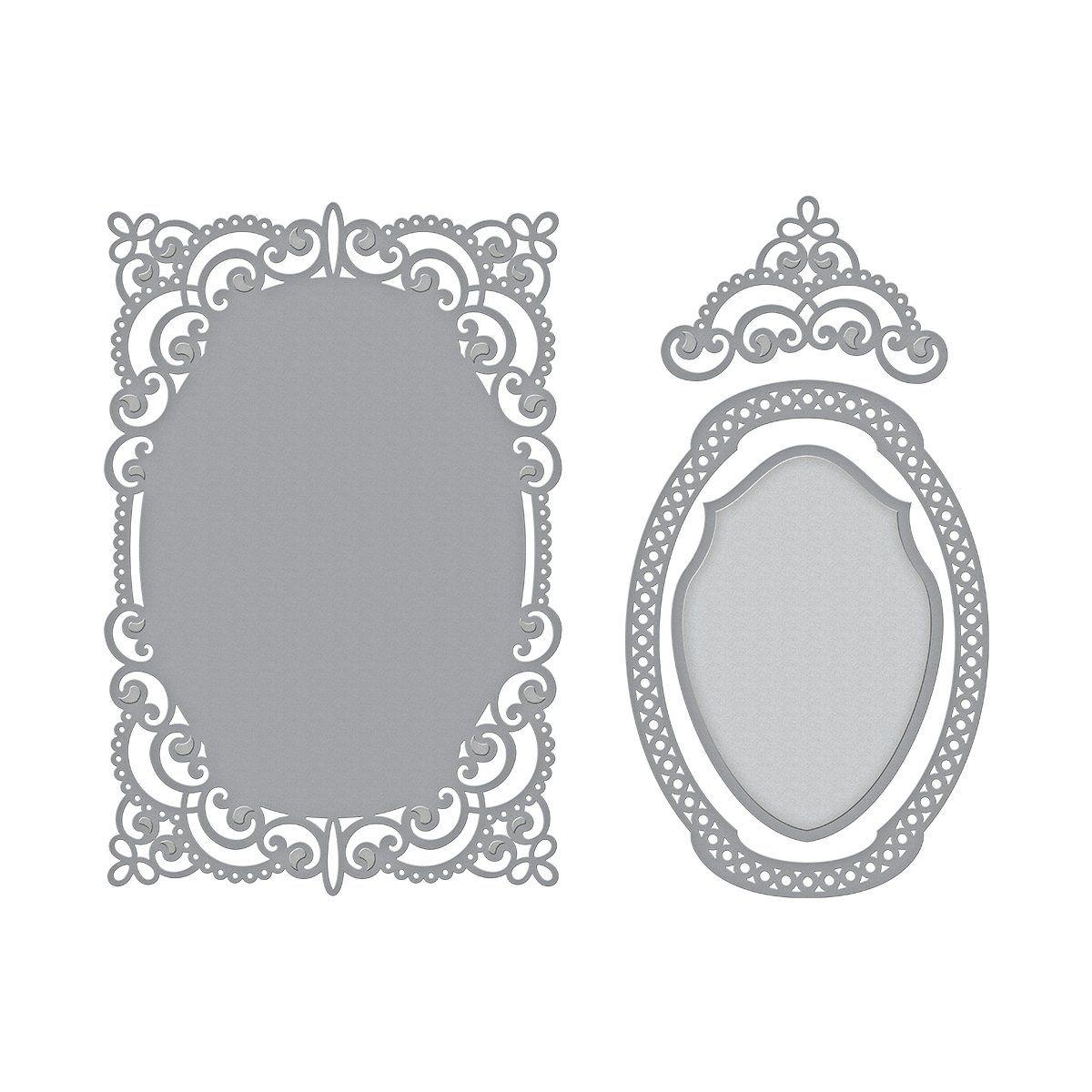 Grey Annibells heart mirror