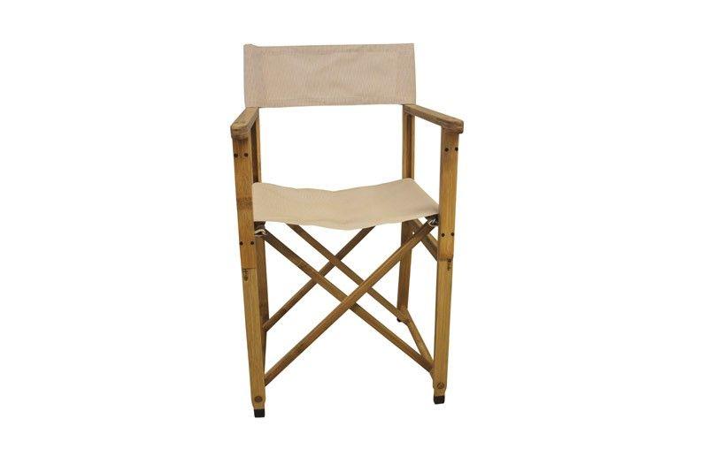 Almindelig Stol,+Instruktørstol+-+Beige+klapstol+i+træ+til+inde+eller+ RL56