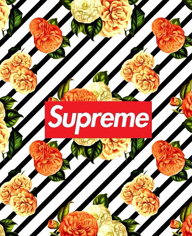 Supreme Pretty Floral Flower By Dodierownz Supreme Wallpaper Supreme Iphone Wallpaper Supreme Wallpaper Hd