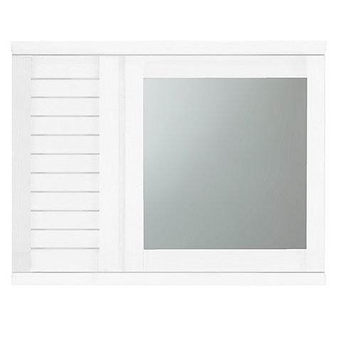 Buy John Lewis Bali Mirrored Double Wall Cabinet, White Online at ...