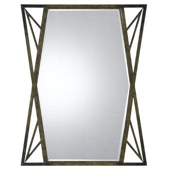 Cal Lighting Pavia Metal Mirror with Beveled Glass in Dark Bronze