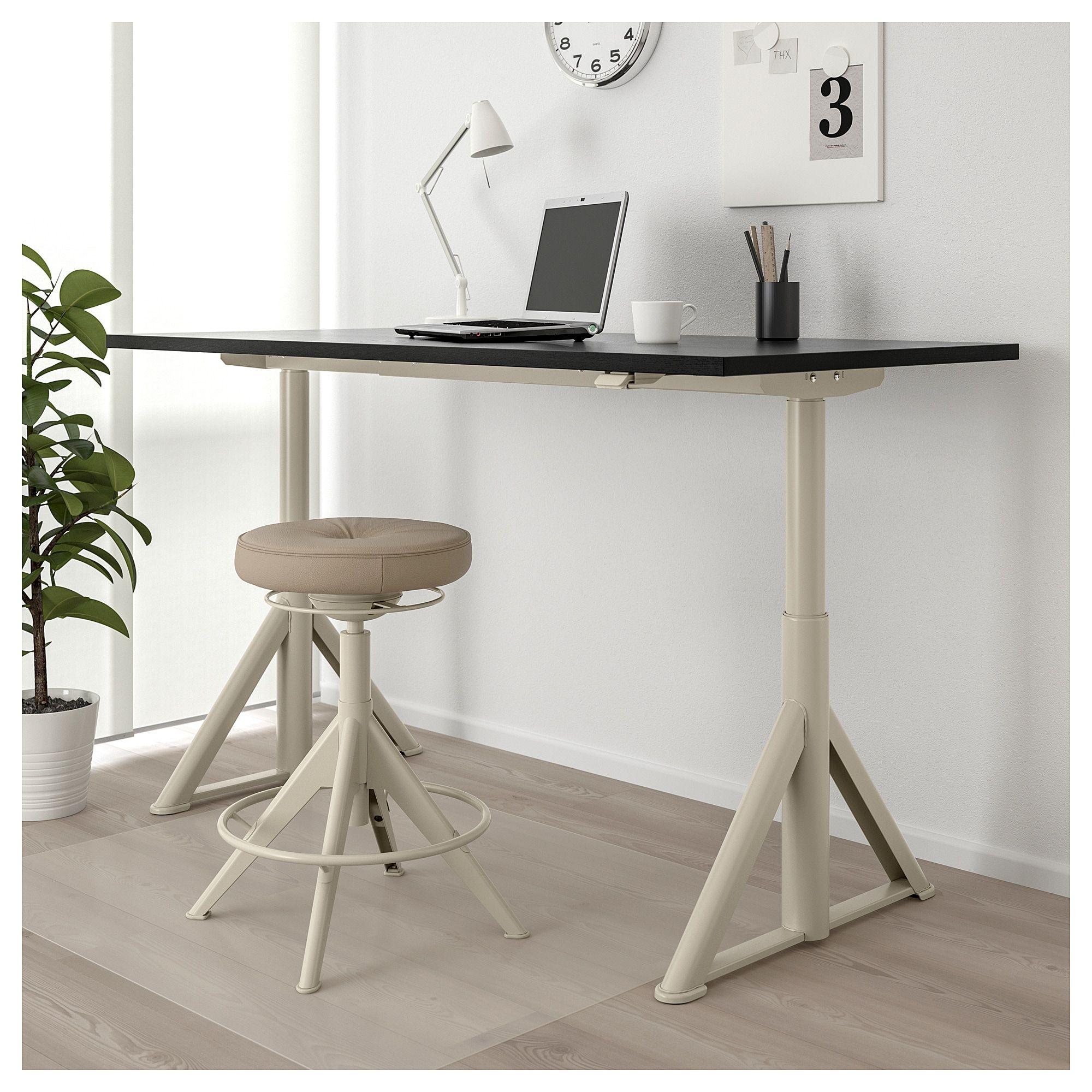 Ikea Idasen Black Beige Desk Sitstand Products In 2019