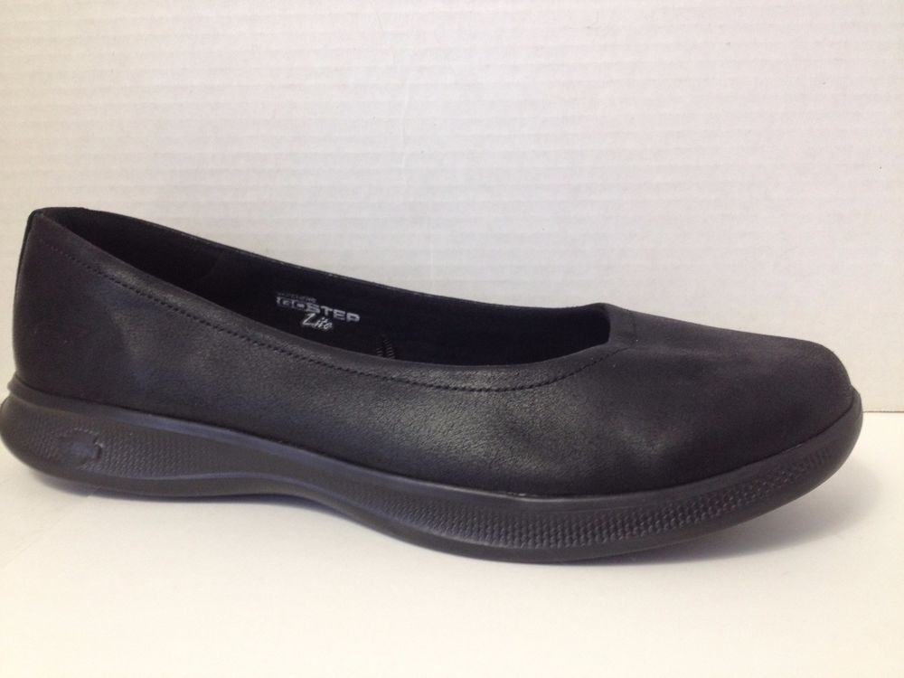 Skechers Goga Max Shoes Womens Size 10 Black Loafers Go Step Lite