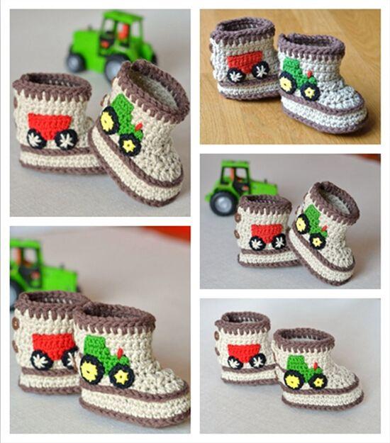 Cheap Del bebé del ganchillo botines en tres tamaños : 9 cm 10 cm 11 ...