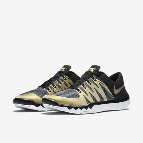 sale retailer e0df1 7ef7e ... white metallic gold bd76e 7fa43  new arrivals nike free trainer 5.0 v6  super bowl 50 mens shoes 9 black gold 723939