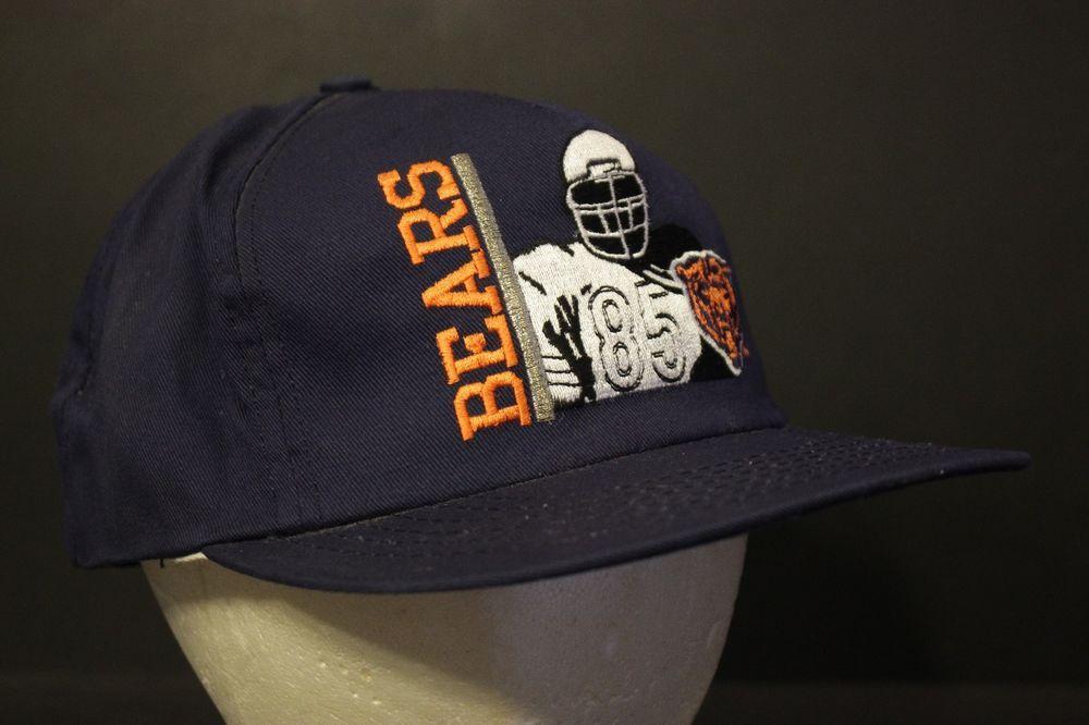 ec574da7d3b4f Vintage Chicago Bears Snapback Hat Cap Retro Navy Adjustable NWT NOS USA  Made  AmericanNeedle  BaseballCap
